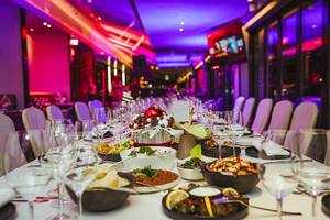 Restaurant Holiday Christmas Table Serving For Event (Flip 2019)