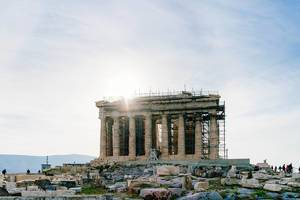 Restoration of the old tample in Acropolis (Flip 2019)