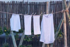 Retro Wäscheleine und Wäscheklammern