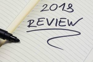 Review 2018 - Rückblick auf das Jahr 2018 geschrieben auf einem Notizheft