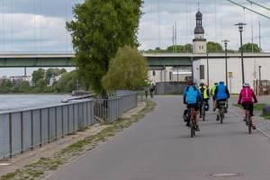 Rhein Radweg in Köln