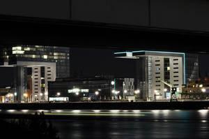 Rheinauhafen Köln bei Nacht