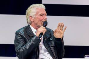 RIchard Branson as the highlight speaker at Digital X in Cologne