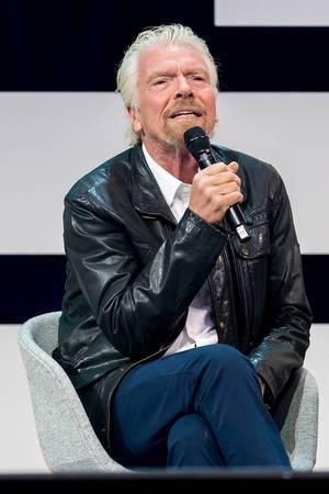 Richard Branson auf der Bühne der Digital X