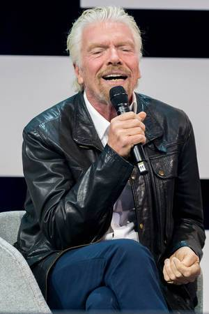 Richard Branson convincing on stage at Digital X in Cologne