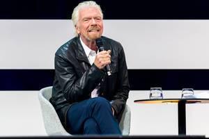 Richard Branson, Founder Virgin Group auf der Digital X in Köln