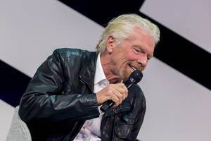 Richard Branson in Germany at the digital convention of Cologne