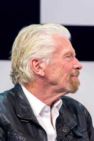 Richard Branson Profilansicht in der Nahaufnahme von der Digital X in Köln