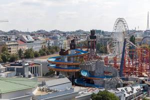 Rides at Prater amusement park in Vienna