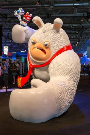 Riesige Figur Mario + Rabbids Kingdom Battle - Gamescom 2017, Köln
