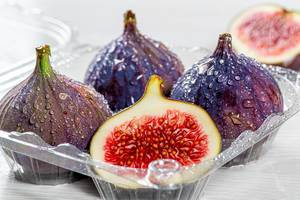 Ripe fresh figs close up