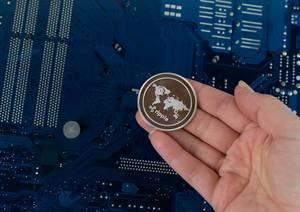 Ripple Kryptowährung in der Hand