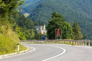 Road to Bovec in Slovenia