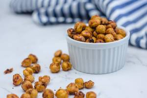 Roasted Chickpeas with Spices in a White Bowl  (Flip 2019)