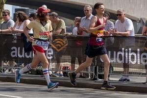 Rob Pope beim Laufen - London Marathon 2018