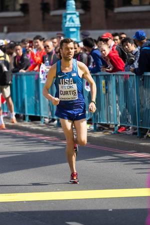 Robert Curtis (Marathon Finale) bei den  IAAF Leichtathletik-Weltmeisterschaften 2017 in London