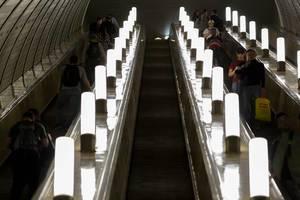 Rolltreppe in der Moskauer U-Bahn