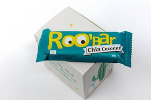 Roobar - chia coconut bar from the eleventh door of the  vegan Foodist Active advents calendar