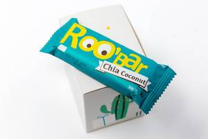 Roobar - Chia-Kokosnussriegel aus dem elften Türchen des veganen Foodist Active Adventskalenders