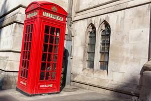 Rote Londoner Telefonkabine