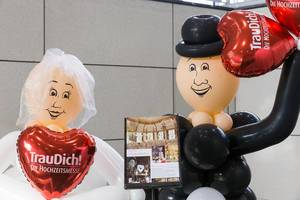 Rote Luftballons - TrauDich! Die Hochzeitsmesse