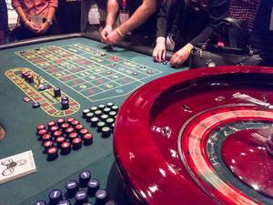 Roulettetisch im Casino