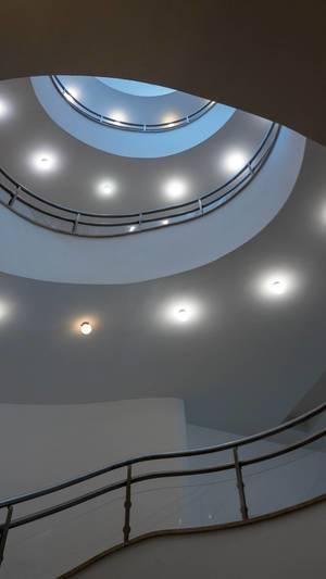 Round stairwell in Disch-Haus in Cologne
