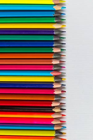 Row Of Colour Pencils