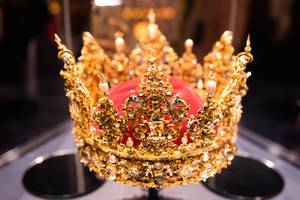 Royal Danish crown in a museum