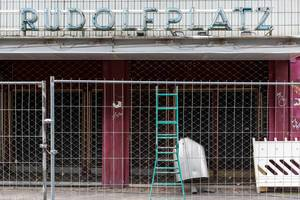 Rudolfplatz Köln: Absperrung