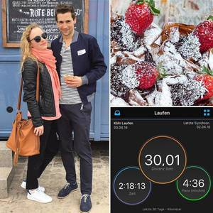 Running 30km and then recovering like after a marathon. Loving it. 😂 🍓 /w @koelnblogging #streetfood #streetfoodfestival #bostonmarathon