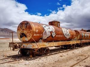 Rusty Bolivian train / Rusty bolivianischen Zug