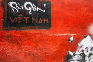Sai Gon Graffiti on a Wall in Ho Chi Minh City, Vietnam