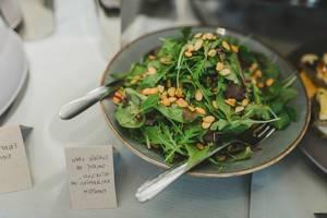 Salad  With Pine Nuts Served On Brunch (Flip 2019)