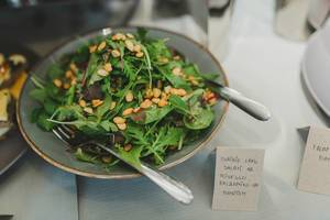 Salad  With Pine Nuts Served On Brunch