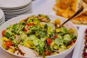 Salatmischung mit Gemüse