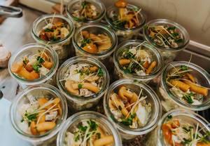 Salatmix mit Shiitake Pilzen