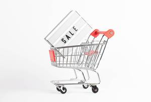 Sale light box in shopping cart