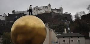 Salzburg Kapitelplatz: Blick zur Festung Hohensalzburg