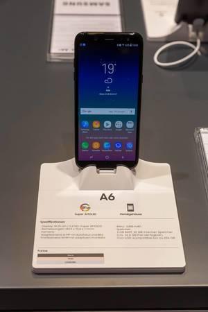 Samsung Galaxy A6 auf der Gamescom 2018