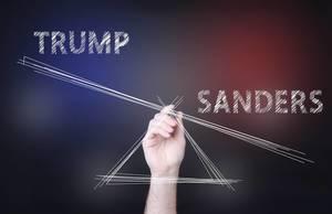 Sanders outweighting Trump concept