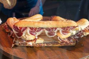 Sandwiches mit Schinkenspeck