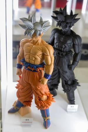 Sangoku action figure in black and colored