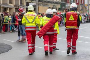 Sanitäter vom Arbeiter-Samariter-Bund - Kölner Karneval 2018