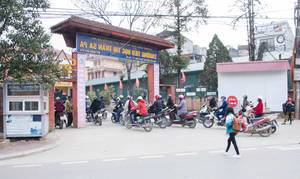 Sapa Vietnam School Entrance with Motocycle in front  (Flip 2019)