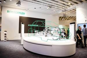Schaeffler Stand für innovative elektrische Antriebe der Elektromobilität