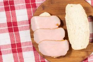 Schinken auf Brot