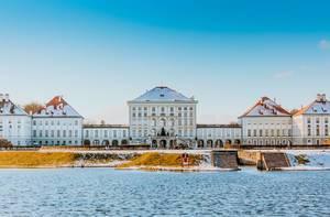 Schloss Nymphenburg in München im Winter