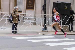 Schneller Marathonläufer: der Japaner Tsubasa Hayakawa beim Chicago Marathon 2019
