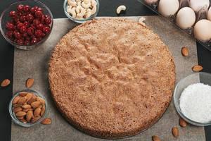 Schokoladen Kuchen Rezept mit Zutaten Top-view